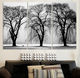 3pcs/set Hot Selling Free shipping white black Trees Canvas Art Modern Home Wall Decorative HD Print Painting no frame