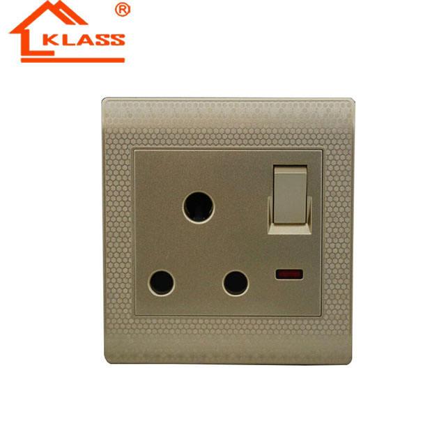 Standard ou DEL Gradateurs Lumière Commutateur Cuisinière Commutateur Plug Sockets Acier poli