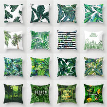 Wholesale cotton linen printed throw pillows covers for couch home decor cushion case sofa pillow