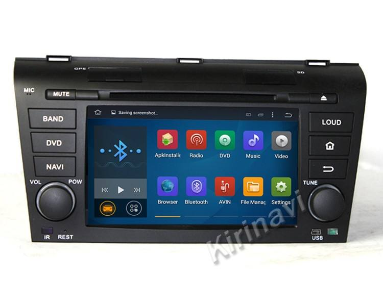 Kirinavi WC-MZ7003 android 5.1 de áudio do carro para mazda 3 2004-2009 sistema multimídia WiFi 3g bluetooth