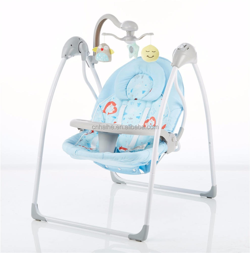 Happy beige electronic swing cradle