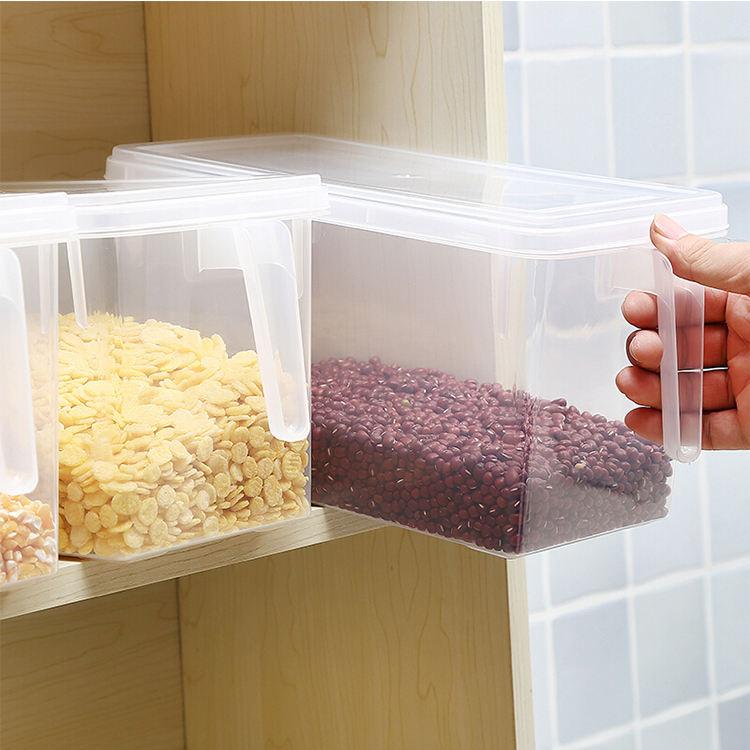 Ideas para ahorrar espacio en la cocina organizadores de nevera caja de almacenamiento con tapa
