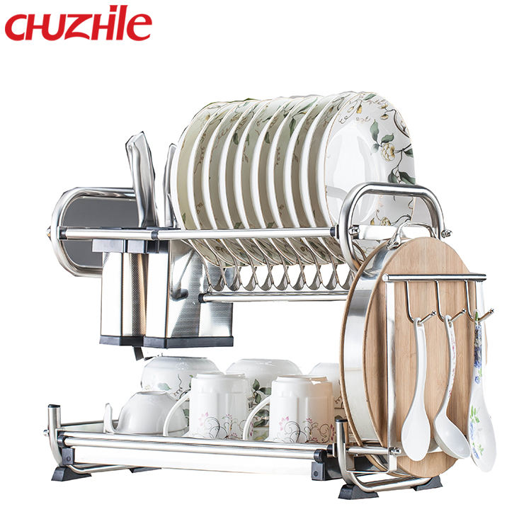 Guangdong Excellent Quality Muliti-Purpose Kitchen hanging steel Dish Drainer