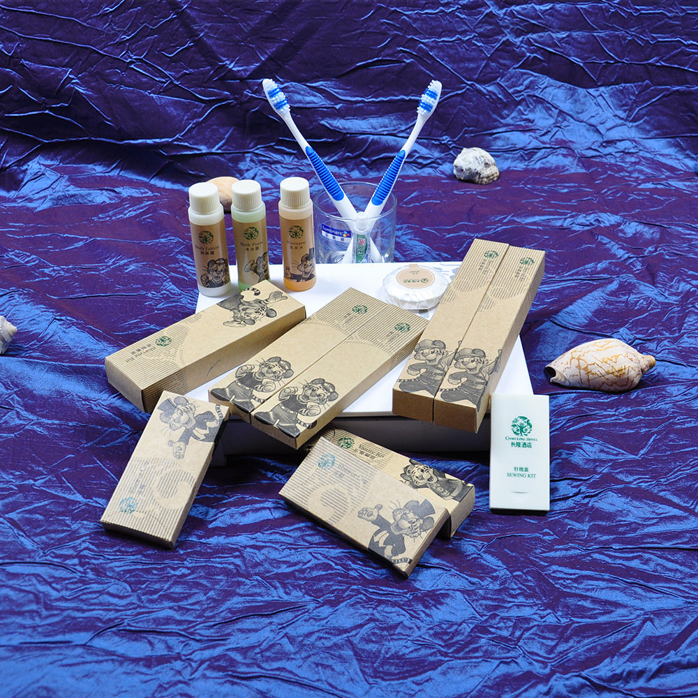 Disposable amenity sets cheap hotel guest bath supplies