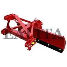 Front loader snow blades for tractors