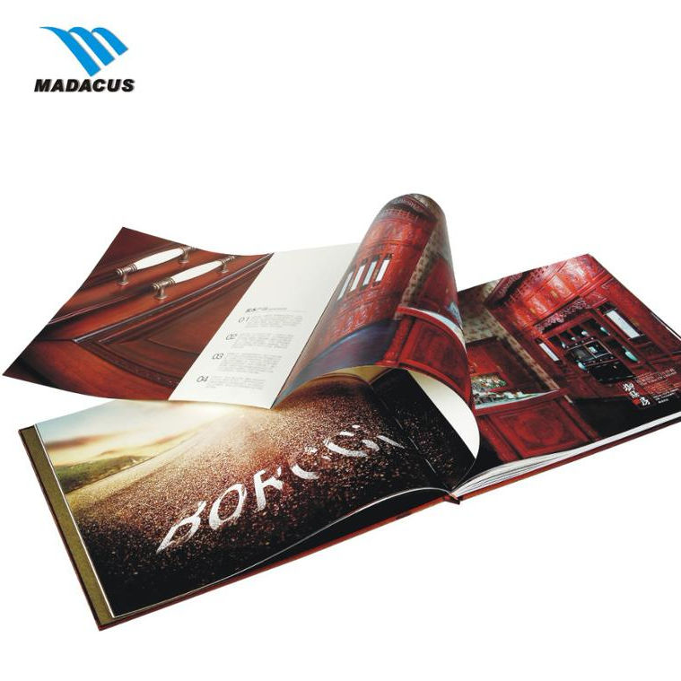 Customized perfect binding Booklet Catalogue Leaflet Brochure /Magazine Printing