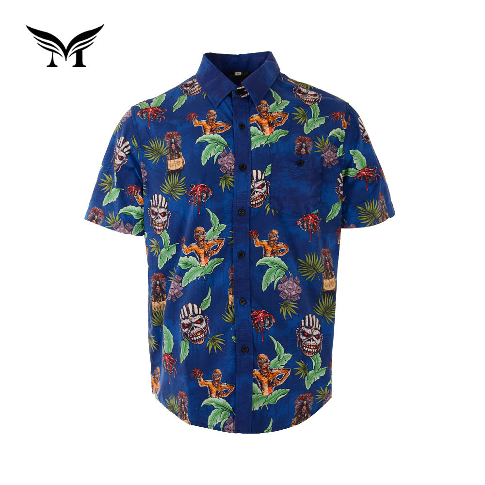 New look summer printed new style men shirt casual italian design for summer