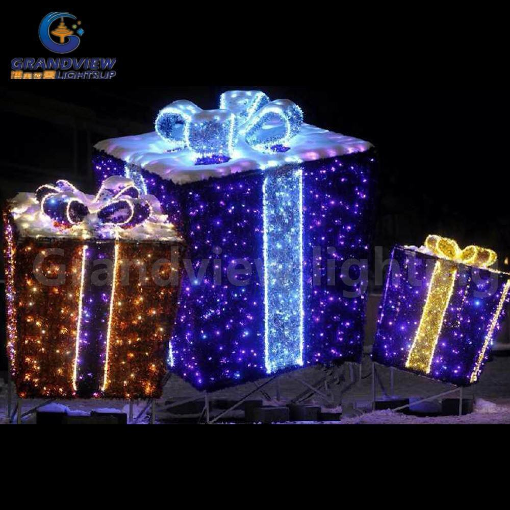 xmas gift box licht vakantie decoratie licht winkelcentrum decor indoor en outdoor decor