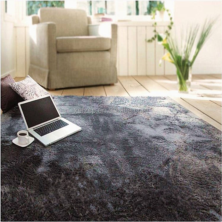 Luxury soft polyester shaggy rugs and carpets