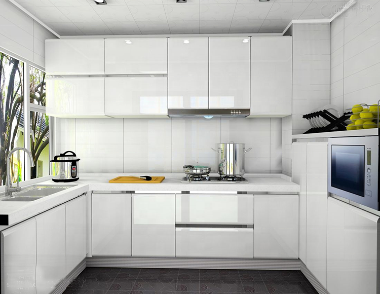 Waterproof high gross white/colorul kitchen cabinets
