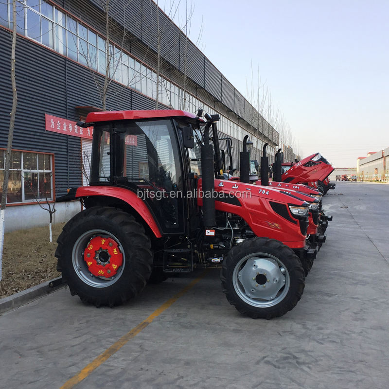 4x4 70hp cabin tractor with 540/1000 double speed PTO factory for sale