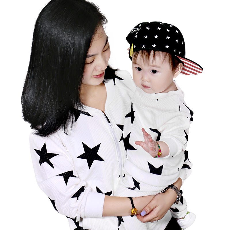 China Wholesale Family Clothing Sets One Piece Print Frock Cotton Child Clothes