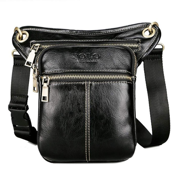 VICUNA POLO Casual Design Mini Crossbody Bag Wholesale Custom Logo Fanny Pack Men Waist Bag Leather Chest Bag