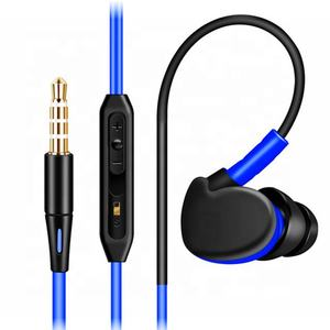get free samples with branded case Promotional color gift earphone mini wired ear hook earphones