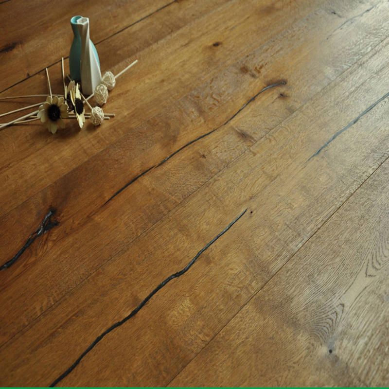 knotty distressed cheap rustic floor oak click wood floor white oak engineered flooring