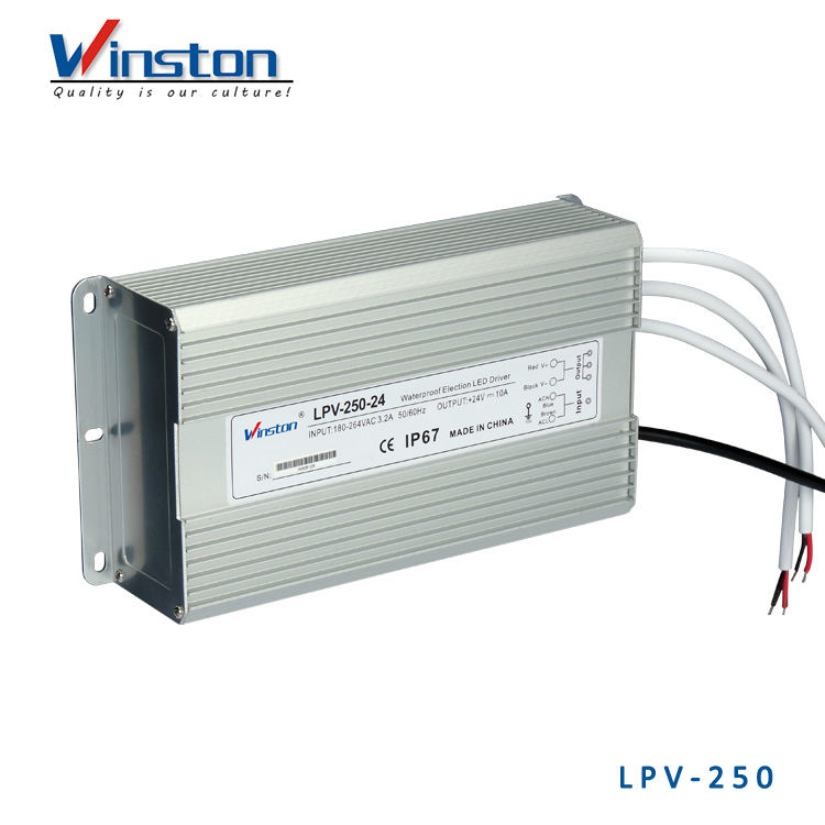 IP67 LPV-250 250W 20A 12V 24V Waterproof led Equipment Electrical Power Supply