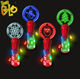 Christmas Party Supplies Custom Acrylic Light Stick Light Up Spinning Wand Led Wand Toys for Kids