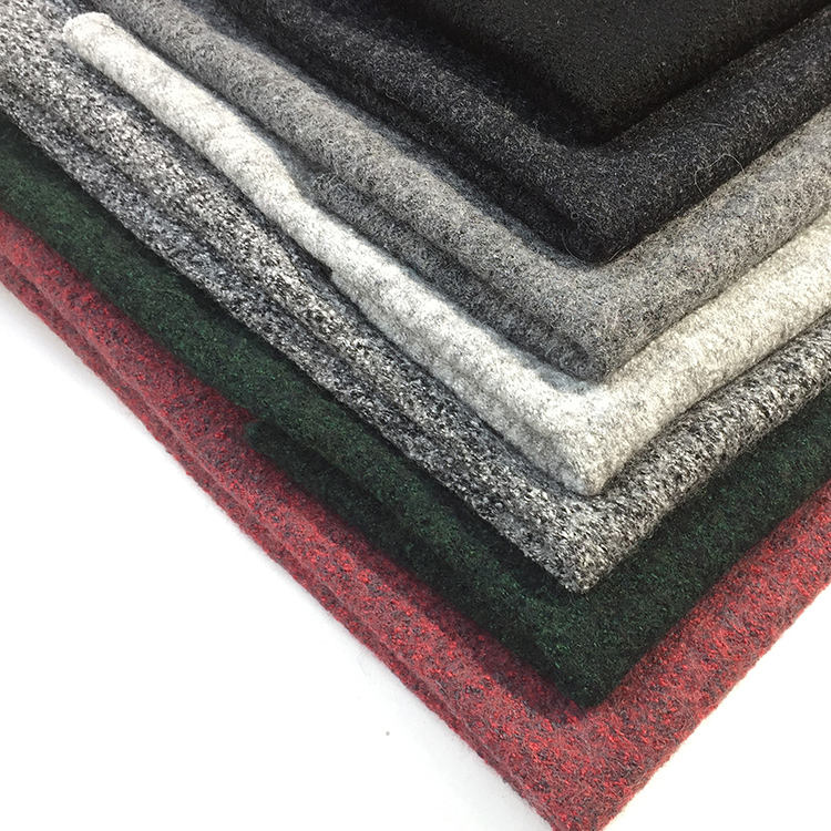 hot sale plain boiled knit multi color 40 viscose blend 60 wool fabric for coat