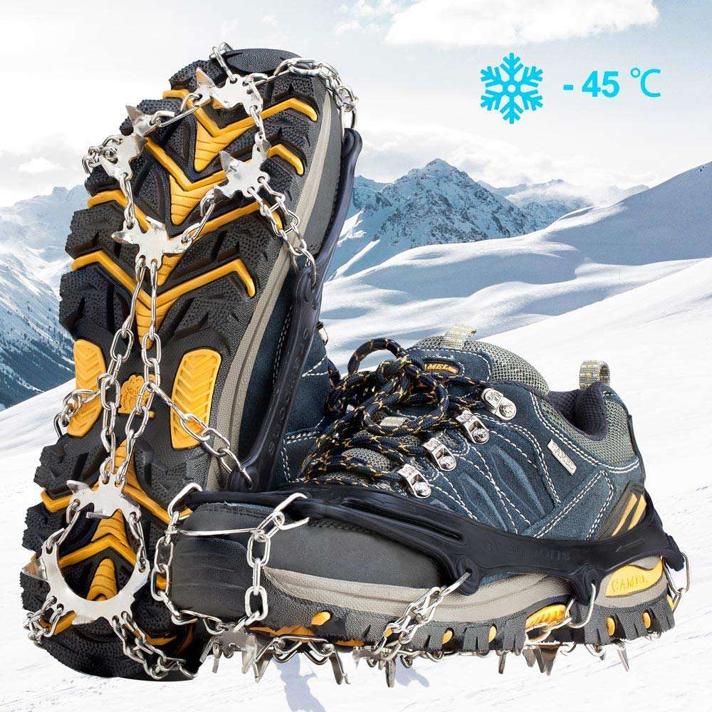 2550 Pair Ice Silicone Snow Shoes Gripper Non-Slip Spikes Climbing Grip Crampon