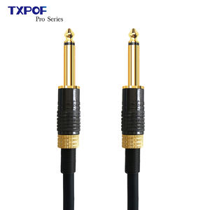 3M 6M 10M 6.35mm1/4inch male to male musical instrument cable guitar cable