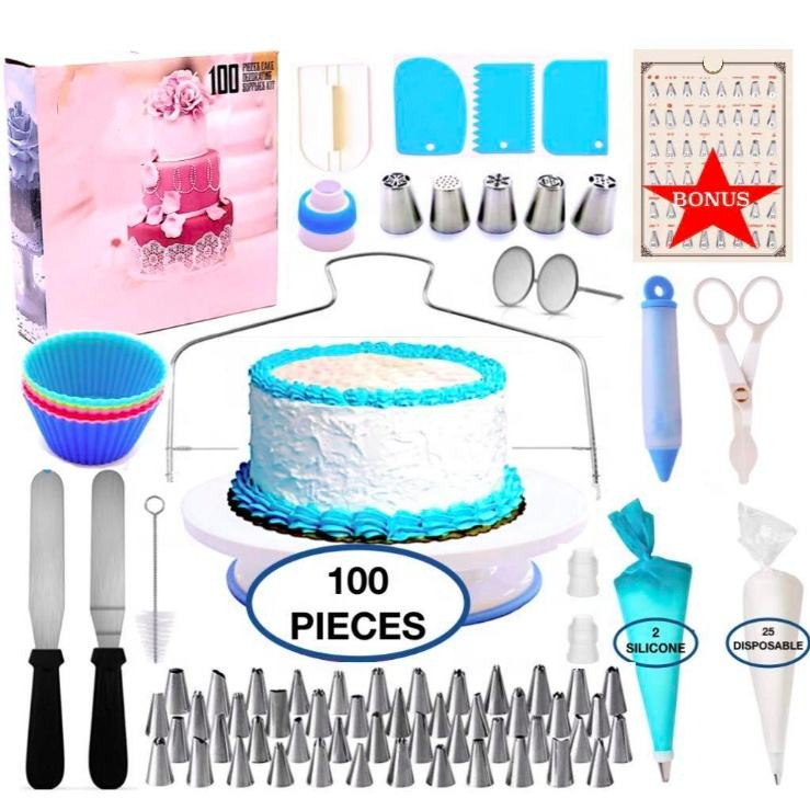 Cake Decorating Tools Kit Baking Tools Set Cookie Fondant Cake ToolsとAccessories More Than 100 PCSためBeginner Cake Lover