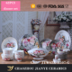 Alibaba Online Shopping Luxury Flower Porcelain Dinnerware Sets Gold PaintedFine Bone China Tableware Sets Of62PCS