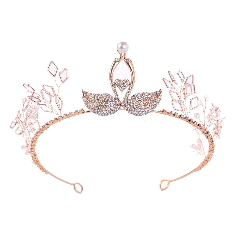 new arrival handmade swan pattern hair accessory hair crown for women