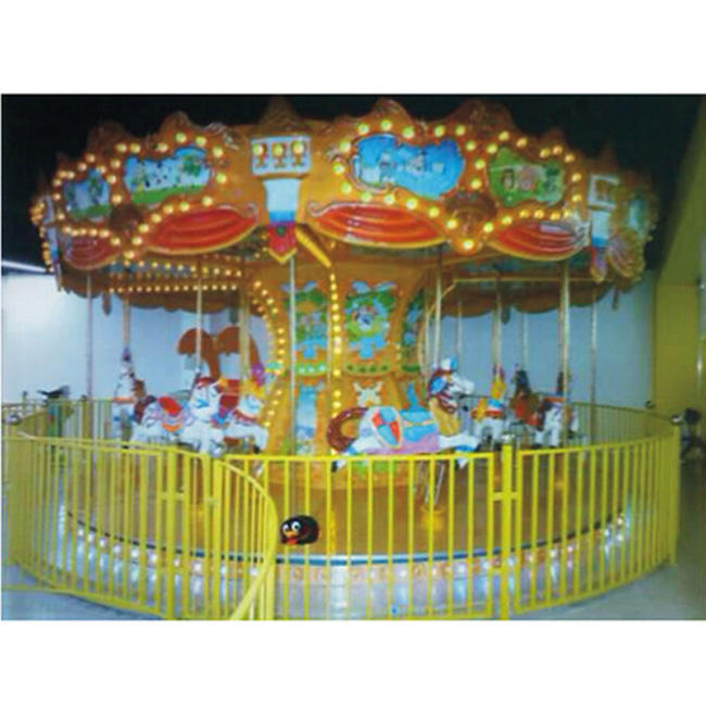 Children games amusement park rides musical carousel merry go round rental