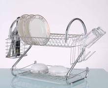 Home kitchen organizer stainless steel dish drainer rack