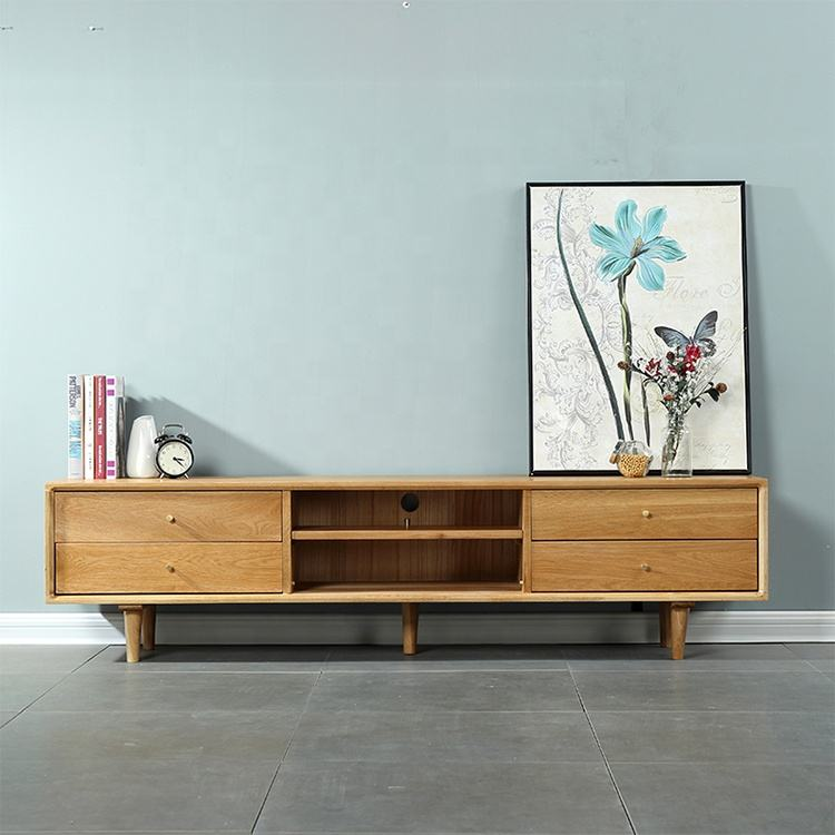 Oak tv cabinet lobby decoration wall cabinet furniture wooden with storage space Nordic modern style home furniture