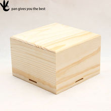 Fashional unfinished natural color jewelry small wooden craft gift box