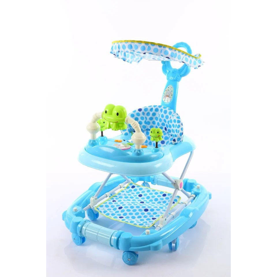 Hot sale baby walker with activity table,musical and flashing light walker for baby,2018 new and popular kids baby walker