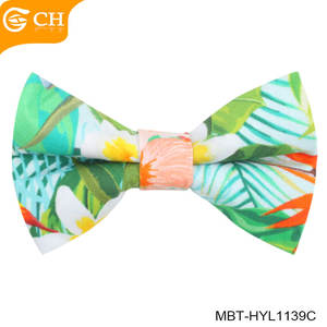 Custom Made Newest Fresh Style 100% Cotton Printed Bowtie Kids Bow Ties