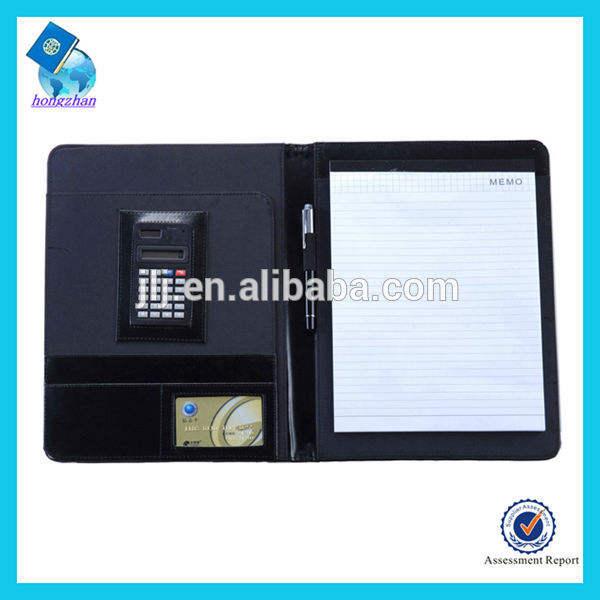 جلدية مخصصة عرض حافظة ملف المجلدات
