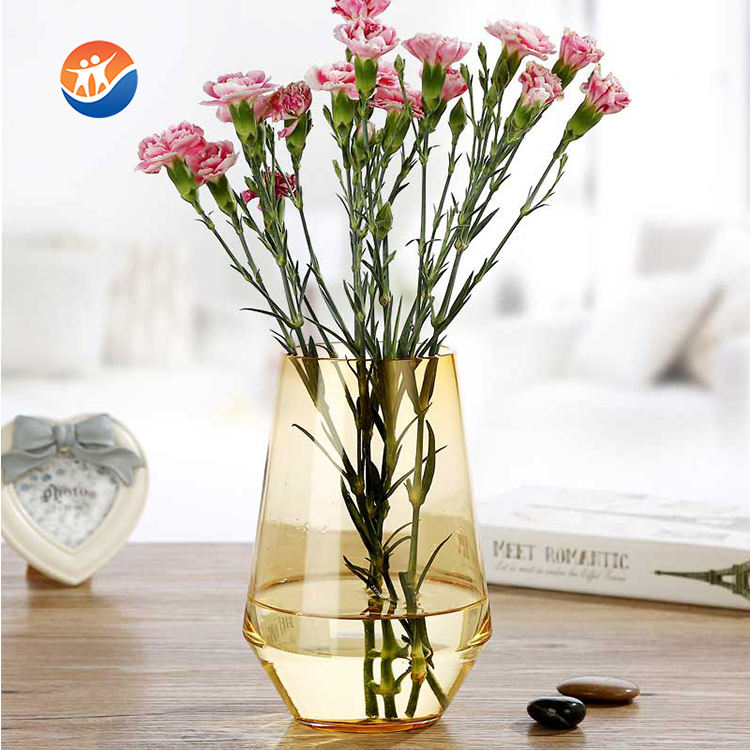 home essentials new design glass flower vase for decoration