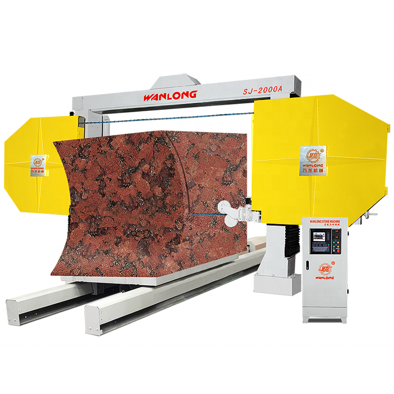 SJ-2000A numerical control wire saw stone cutter, stone diamond wire saw cutting machine