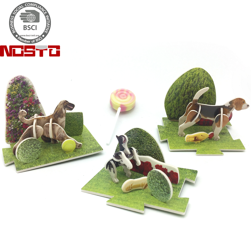 China Factory Custom Candy Chocolate Snack Promotion Toys 3D Puzzle Animals Giveaways Toys