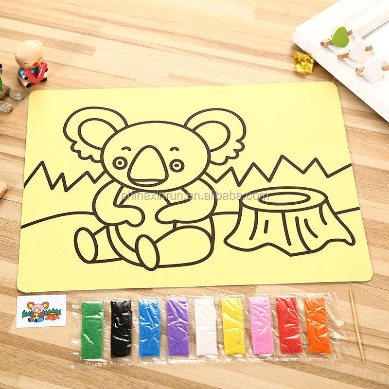 DIY Educational toys sand art stickers for children