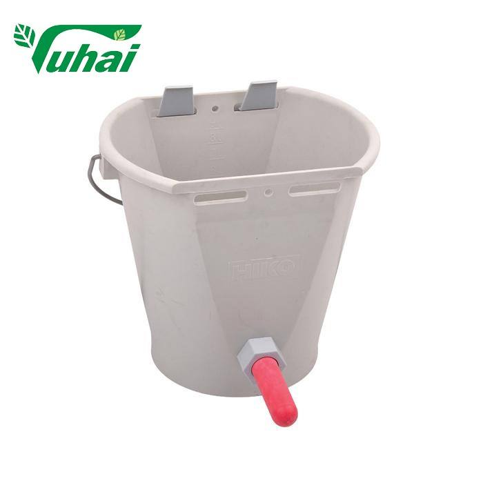 8L milk bucket with teat animal feeding bucket for calf