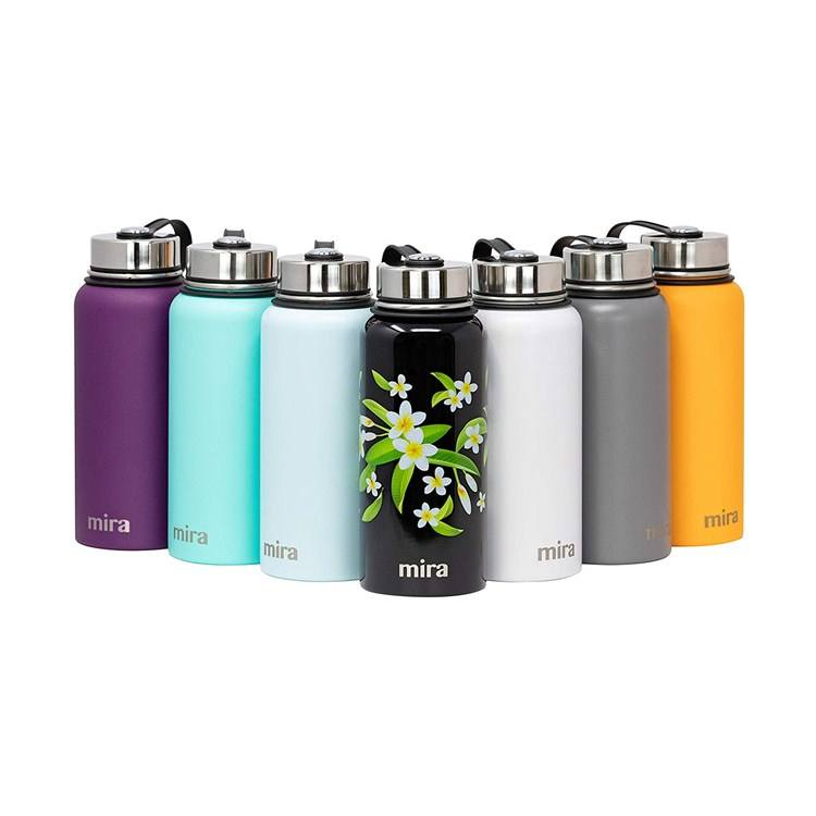 Powder Coated Wide Mouth Thermos Water Bottle Stainless Steel Vacuum Insulated Flask Keeps Water Keeps Water Stay Cold for 24 H