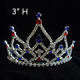 China jewelry wholesale full round pink pageant crowns princess tiara crown for kids