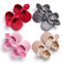 Hot bowknot cheap princess fashion newborn baby PU leather shoes bow infant prewalker birthday gift baby soft sole moccasins