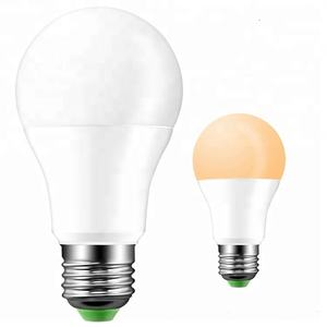 A19 dawn to dusk led bulb light 7W 9W sensor bulb