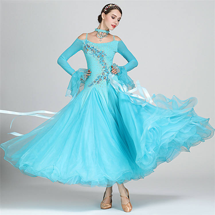 New Coming Women Girls Performance Wear Standard Dancing Ballroom Dress