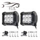 JHS Factory Supply Led Car 18W led work light Round Offroad Auto Led Work Light 6led Led Headlight Led Driving Light