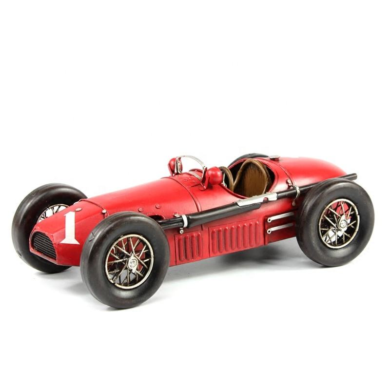 1953 Handmade Red 500 F2 Racing Sports Diecast Car Model Vintage 1:12 Scale Metal Crafts Home Decoration