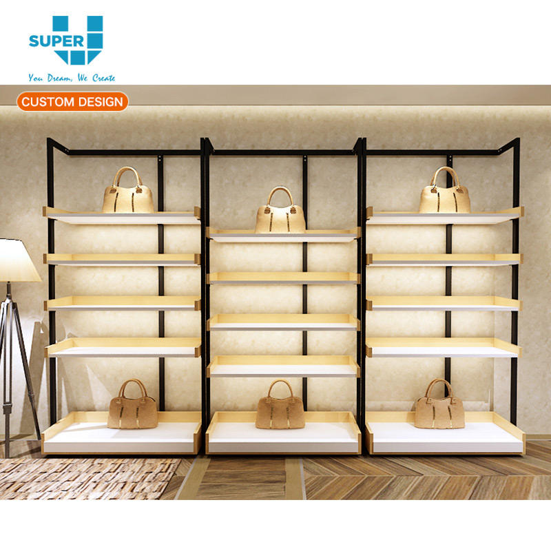 New Released Customize Handbag Shelving Rack Floor Standing Bag Shelves for Retail Store Display