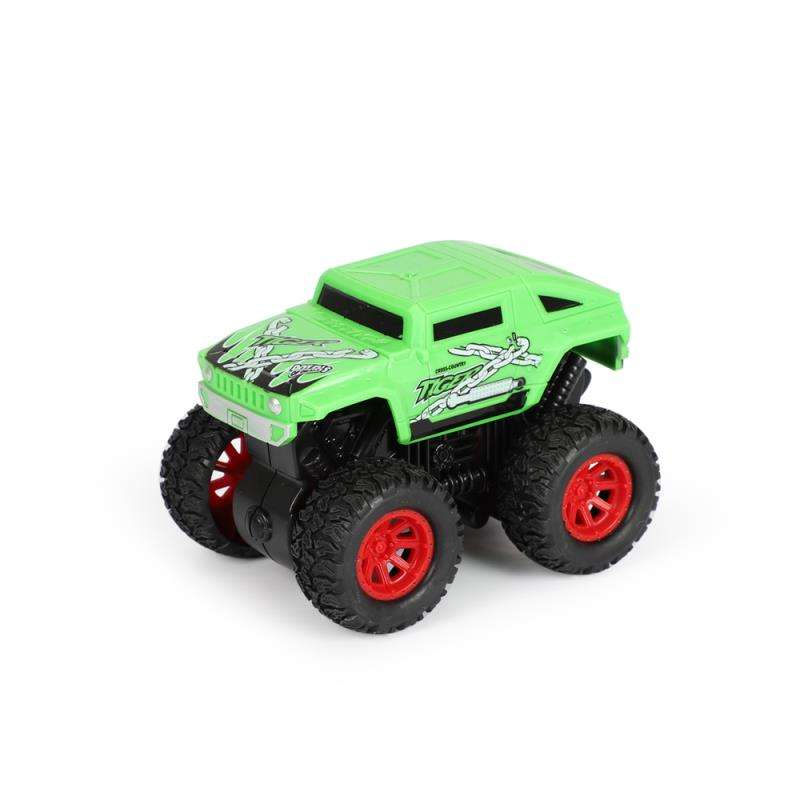 Friction Powered Monster Truck Die Cast Vehicles Big Tire Wheel 4*4 Stunt Car Off-road Kids Car Toy can Rotation and Stunt