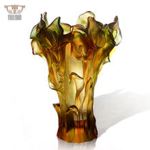 Luxury Daum Crystal Callalily Flower Vase Home Decoration Wedding Table Centrepiece