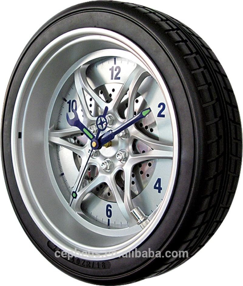 14Inch Customized Classic Tire Rim Gear Clock With Logo
